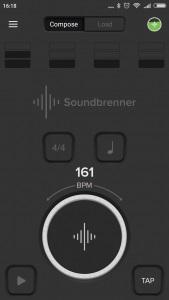 Pantalla inicio Soundbrenner Pulse
